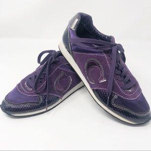 COACH | RARE Purple Rudi Lace Up Sneakers 6.5